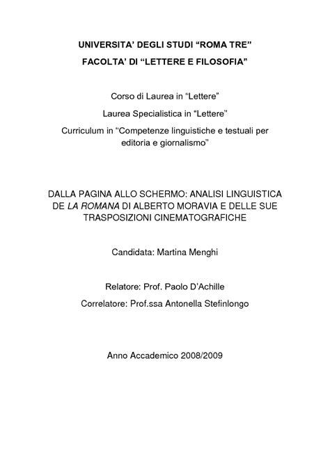 universita degli studi roma tre facolta di lettere e