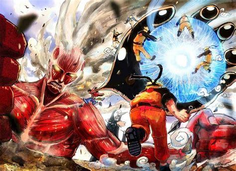 one anime vs aot vs one vs anime one
