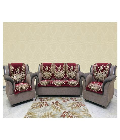 velvet sofa covers mhf velvet sofa cover set buy mhf velvet sofa