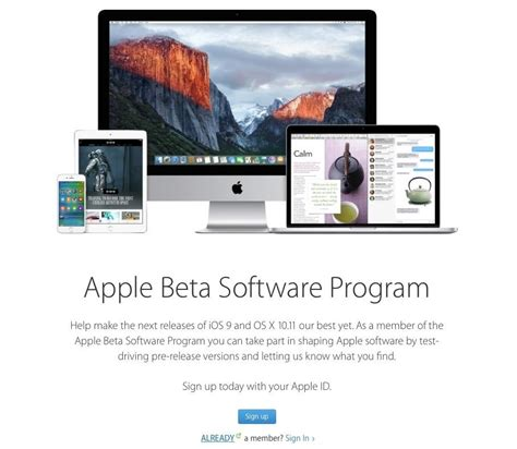 apple beta how to sign up for the ios 9 public beta preview for ipad
