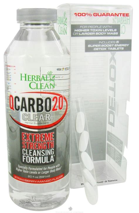 Boots Detox 5 Day Plan Strawberry Flavour by Herbal Clean Qcarbo20 Clear Strength Cleansing