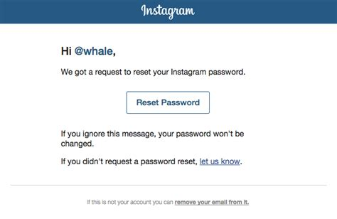 password reset notification email template instagram really emails
