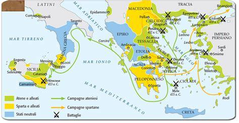 cartina guerre persiane le guerra peloponneso e la crisi della polis appunti