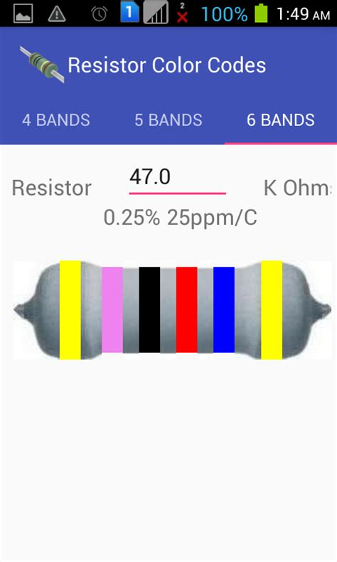 resistor color code simulator resistor color codes android apps on play