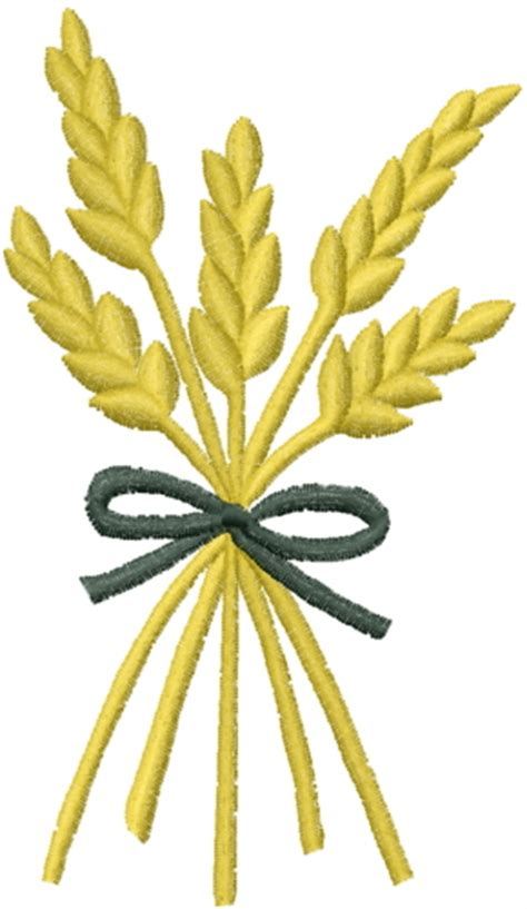 embroidery design wheat plants embroidery design wheat sheaf from ann cobb