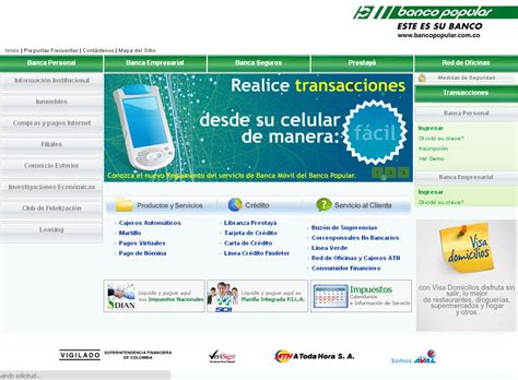web banco popular www bancopopular co www banco popular co sitio
