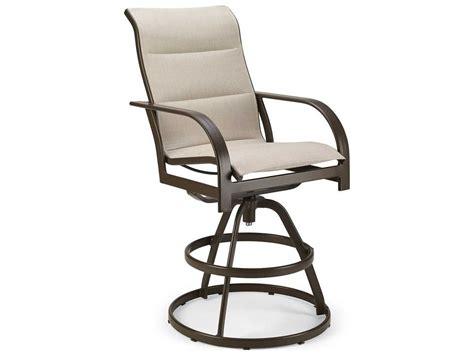 padded swivel bar stools winston key west padded sling aluminum swivel bar stool