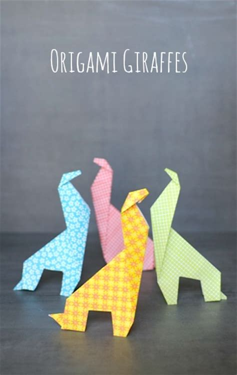 Easy Origami Giraffe - 40 tutorials on how to origami a zoo