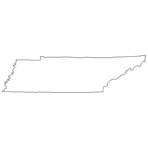 State Of Tennessee Outline by Go Printables