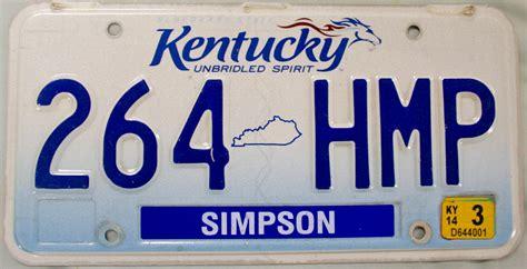 2014 kentucky license plate 264 hmp