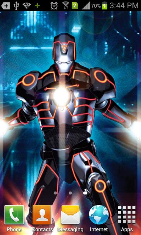android games apps iron man wallpaper