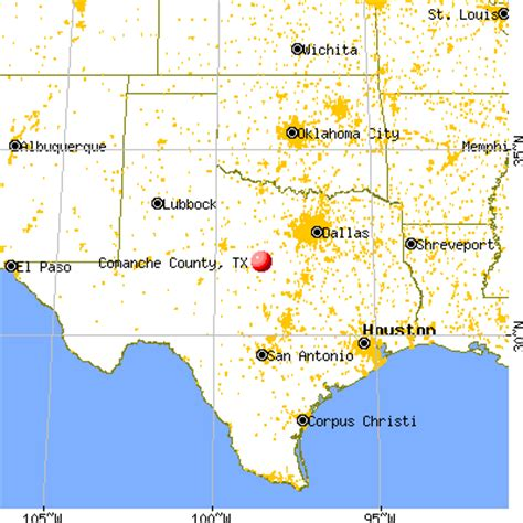 comanche texas map comanche county texas