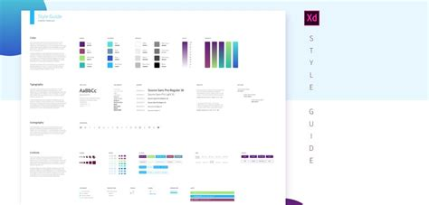 Xd Style Guide Template Xdguru Com Style Guide Template
