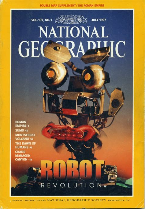 libro nat geo readers robots national geographic july 1997 robots revolution