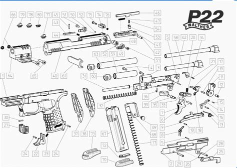 walther p22 parts diagram walther p22 parts schematic free shop manual downloads