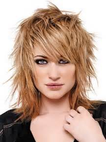 womens medium length layered razor cut hairstyle razor cut medium hairstyles