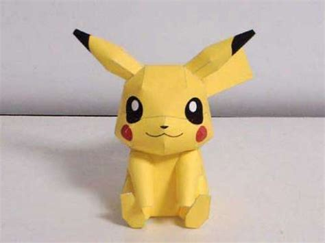 paper craft 3d pikachu 3d model papercraft template review