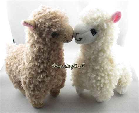 2pcs adoreable camel alpaca plush toy off white llama