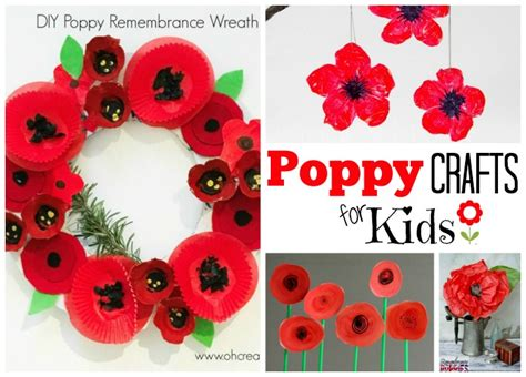 poppy crafts for remembrance day activities ted s