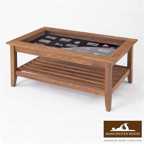 Coffee Table Glass Top Wood Coffee Table With Glass Top