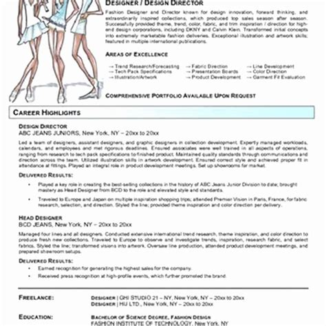 fashion designer resume format for fresher resume for freshers fashion designer