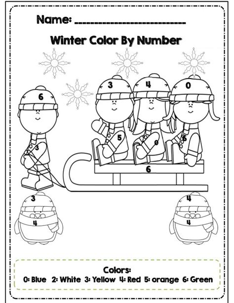 math coloring page winter color by number winter coloring pages freecoloring4u com
