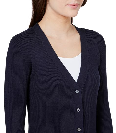 Sweater V Neck 30 navy 30 silk 70 cotton s ribbed v neck cardigan woolovers