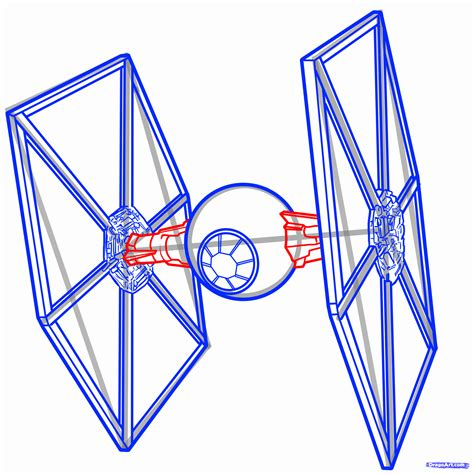 how to draw a tie fighter tie fighter wars step by