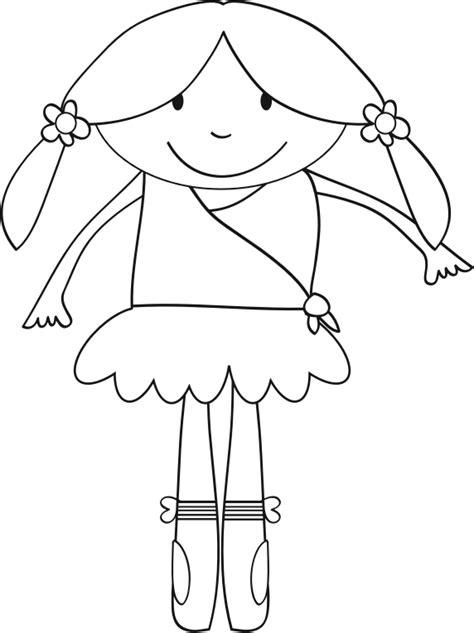 clipart ballerina line