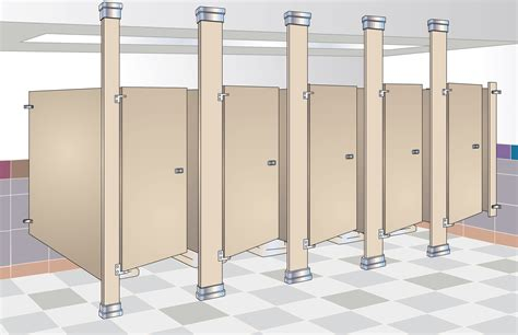 Ceiling Mounted Toilet Partitions by Bradmar Partitions Bradley Corporation