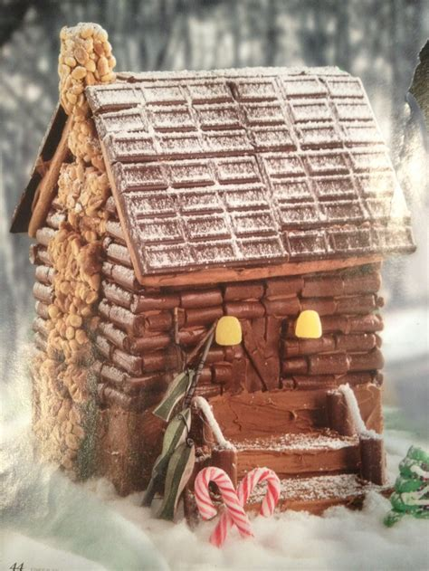 Cocoa Cabins by Gingerbread House Idea The Tootsie Roll Log Cabin