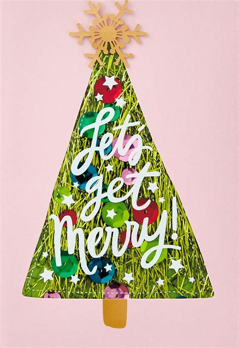lets  merry christmas card greeting cards hallmark