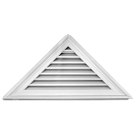 home depot paint triangles shop builders edge 56 3 in x 25 8 in white triangle vinyl