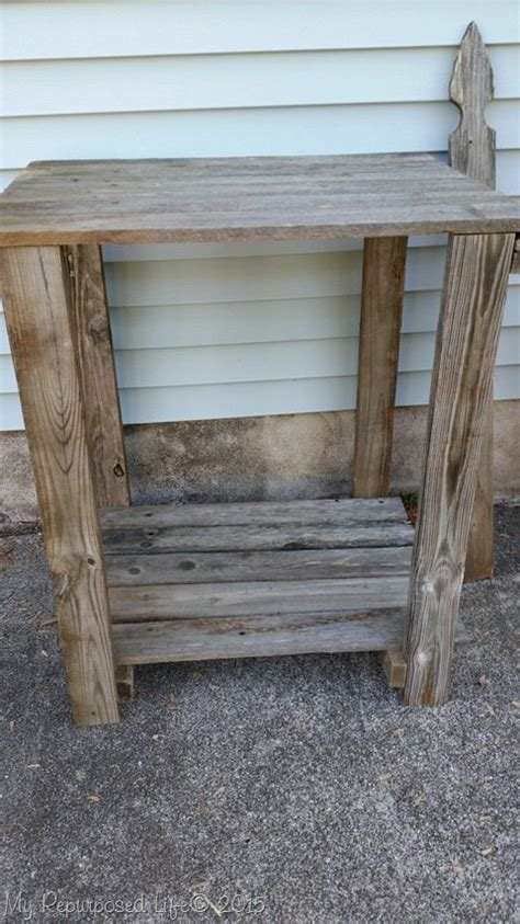 reclaimed wood potting bench reclaimed wood potting bench my repurposed life