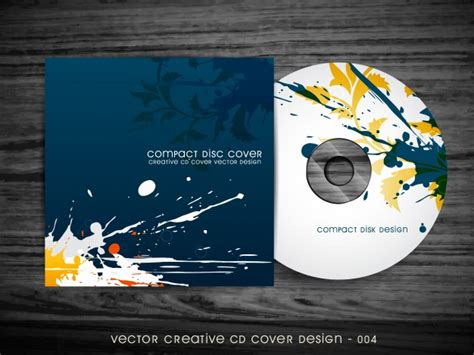 design free cd cover abstract splash style cd cover design vector free download