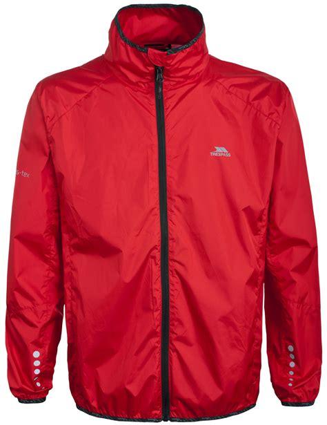 reflective waterproof cycling jacket mens boys trespass waterproof breathable reflective