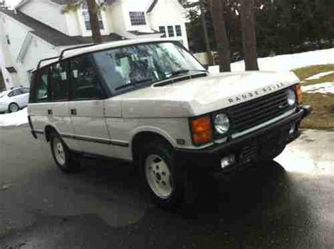 1988 range rover classic collector quality new 4 2l engine well sorted purchase used 1988 range rover classic rare low miles one family owned very nice in saint james