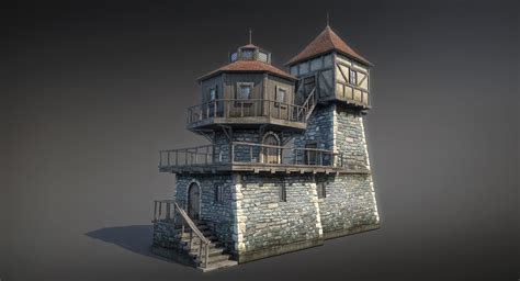 fantasy houses fantasy house 04 3d game low poly by sergey ryzhkov on deviantart