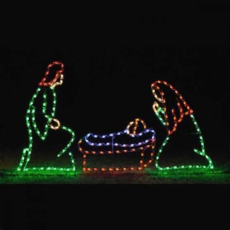 nativity scenes nativity  led light display  holy