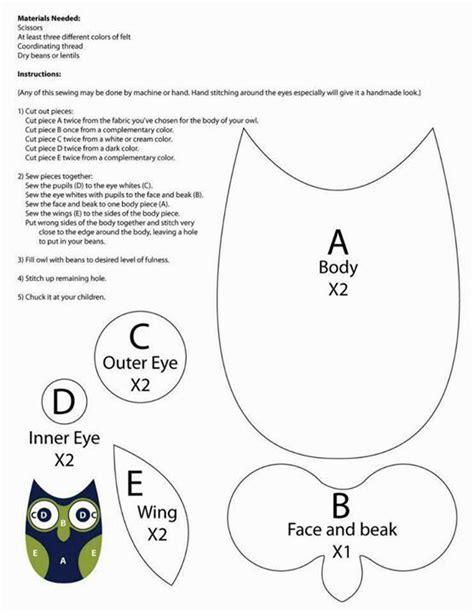 printable owl sewing template patron buho maria ideas pinterest
