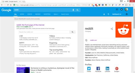 google design reddit i modified google search to be of material design web design