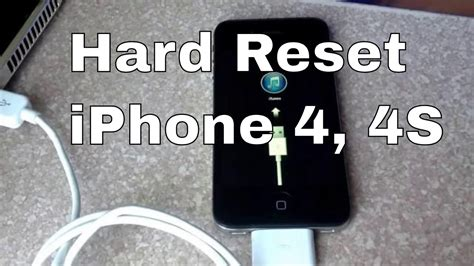 factory reset the iphone 4s how to hard reset iphone 4s through recovery mode youtube