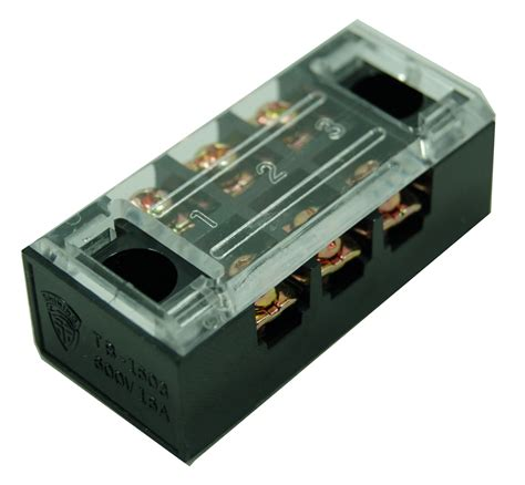 Terminal Block Tb 2504 4 Pole 25a 400v Taiwan Tb 2504l Electrical Fixed Type 25a 4 Pole Barrier
