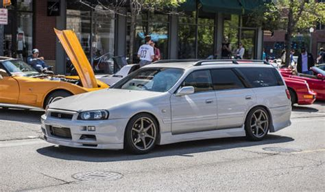 skyline wagon nissan stagea r34 gt r wagon will you the coolest kid