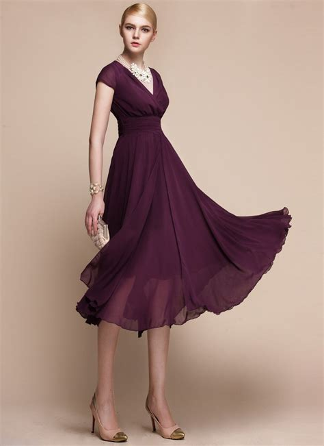 Rushed Sleeve V Neck Top v neck purple midi dress with layered skirt and ruched