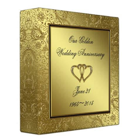 Wedding Anniversary Album Ideas by 50th Wedding Anniversary 2 Quot Album 3 Ring Binders Zazzle