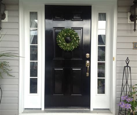 painted front door what you should know about painting your front door black