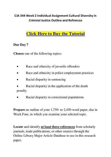 Cja 344 Week 2 Individual Assignment Cultural Diversity In Criminal J Cultural Diversity Plan Template