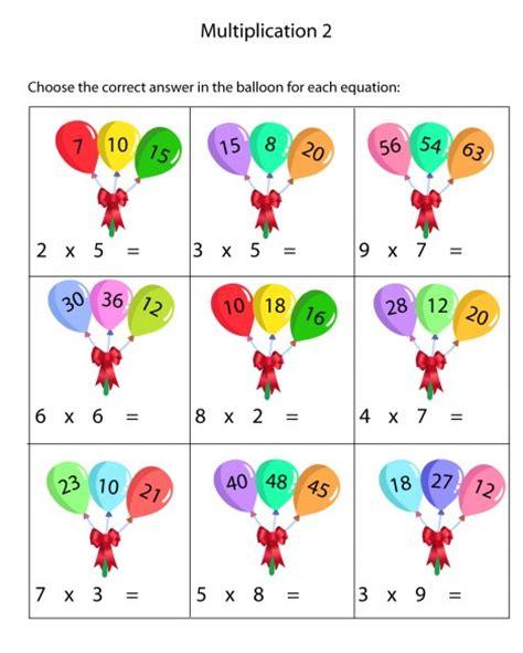 Teril Berhitung Matematika Kelas 8 lembar kerja matematika perkalian menyenangkan untuk anak