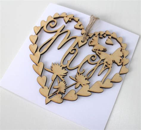 Laser Cut Mothers Day Card Template by S Day Laser Cut Card And Keepsake By Ohmydear